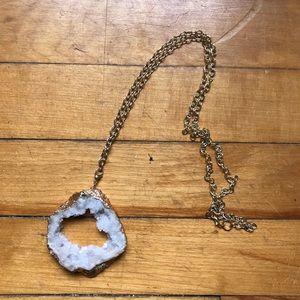 Jewelry - Crystal Rock Charm Necklace